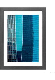 Quadro Decorativo Vibrante Blue I 28X38Cm Cinza Infinity