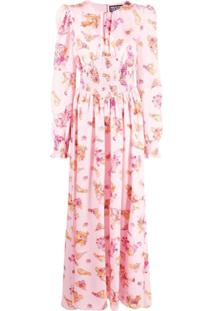 Versace Jeans Couture Vestido Com Estampa Floral - Rosa