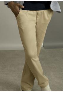 Calça Masculina Básica Chino Com Bolso Faca Hering