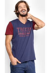 Camiseta Triton Raglan College Masculina - Masculino