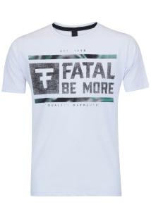 Camiseta Fatal Estampada 17750 - Masculina - Branco