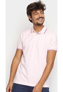 Camisa Polo Forum Clássica Masculina - Masculino-Rosa