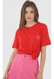 Camiseta Lanã§A Perfume Logo Vermelha - Vermelho - Feminino - Viscose - Dafiti
