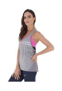 d88aab5cf8 ... Camiseta Regata Nike Miler Tank Racer Hyper Femme - Feminina - Cinza  Escuro