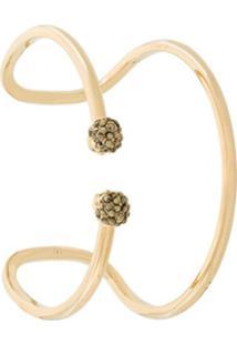 Alexander Mcqueen Bracelete Com Detalhe De Caveira - Dourado