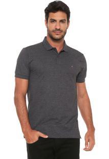 Camisa Polo Aramis Logo Preta