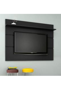 Painel Para Tv 65 Polegadas Vivare Preto Acetinado 180 Cm