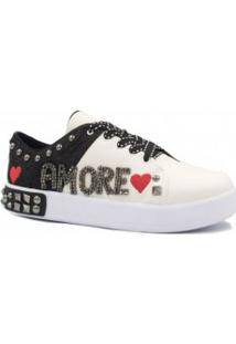 Tênis Zariff Shoes Flatform Bordado