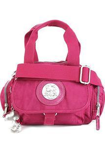 Bolsa Snoopy Shopper Pequena Com Bag Charm Feminina - Feminino-Rosa