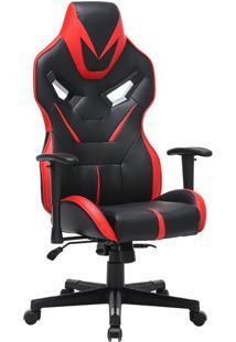 Cadeira Gamer Gaia Preta E Vermelha