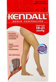 Meia Calça Kendall Feminina Média Compressão (18-21Mmhg) Ponteira Aberta Tamanho G Cor Mel