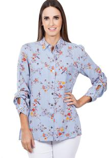 Camisa Love Poetry Estampado Azul
