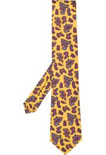 Etro Gravata Com Paisley - Amarelo