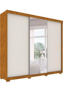 Guarda-Roupa Casal Com Espelho Otawa 3 Pt 6 Gv Nature E Off White