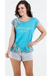 7c91d7e432628d Pijama Feminino Short Doll Floral Marisa