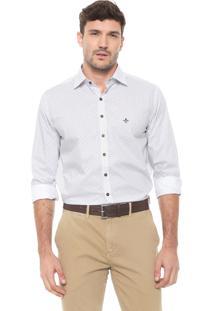 Camisa Dudalina Reta Estampada Off-White
