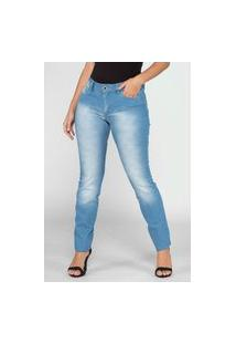 Calça Jeans Macaw Skinny Cintura Alta Jane 7864 Azul