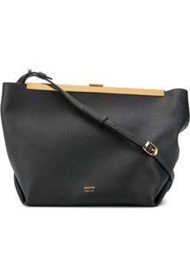 Khaite Metallic Details Shoulder Bag - Preto