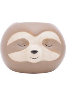 Vaso Cachepô Em Cerâmica Bicho Preguiça - Pequeno