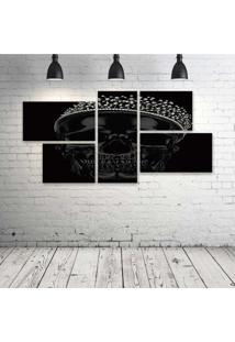 Quadro Decorativo - King-Skull - Composto De 5 Quadros