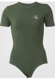 Body Calvin Klein Underwear Logo Verde