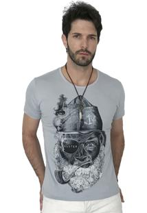 Camiseta Hunter Pirata Cinza