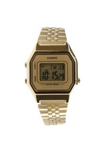 Relógio Casio Feminino Digital La680Wga9Df - Dourado