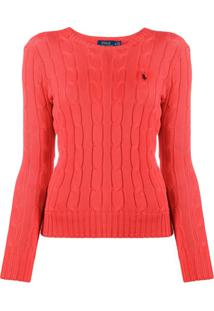 Polo Ralph Lauren Cable Knit Jumper - Laranja