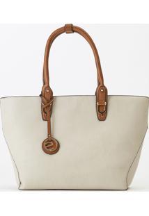 Bolsa Ombro Bicolor Belt (Marfim, Único)
