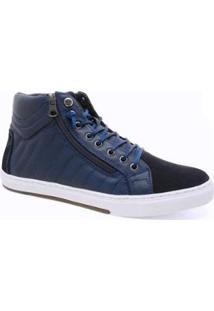 Sapatênis Sandalo Sayle Cano Alto Gat08 Masculino - Masculino-Azul