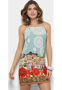 Vestido Farm Estampado Paraty Feminino - Feminino-Estampado