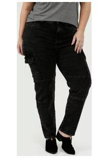 Calça Feminina Jeans Cargo Skinny Plus Size Marisa