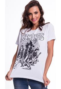 Camiseta Jazz Brasil Ramones Branco