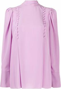Givenchy Blusa Com Detalhe De Botões - Roxo