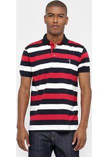 Camisa Polo Aleatory Malha Listrada - Masculino