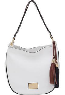 Bolsa Couro Tiracolo Colors - Feminino-Branco