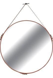 Espelho Silverstone Couro Terracota 60 Cm (Larg) - 35733 - Sun House