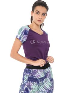 Blusa Costa Rica Suplex Light Roxa/Verde
