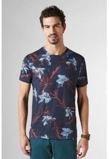 Camiseta Reserva Estampada Full Floral Lirios - Masculino