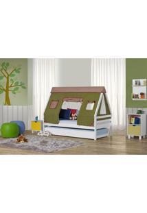 Bicama Infantil Prime Com Telhado Cabana Verde Casatema