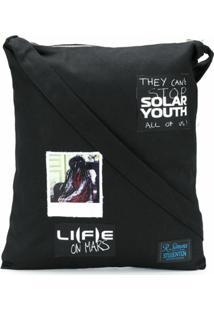 Raf Simons Bolsa Tote Solar Youth - Preto
