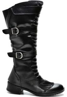 Bota Top Franca Shoes Montaria - Feminino-Preto