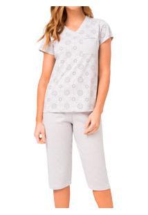 Pijama Capri Com Bolso Toque Íntimo (05.01.082) Algodão