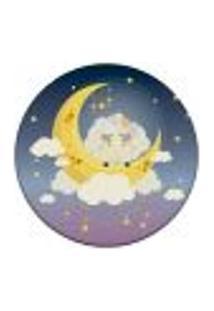 Tapete Redondo Wevans Ovelha Na Lua 84Cm