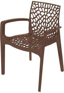 Cadeira Gruvyer Com Braço Café