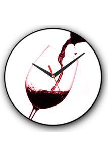 Relógio De Parede Colours Creative Photo Decor Decorativo, Criativo E Diferente - Vinho Splash
