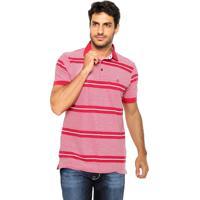 7ce27dc638 Camisa Polo Dudalina Reta Listras Vermelha