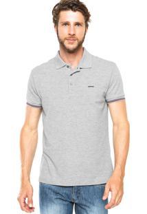 Camisa Polo Sommer Bordado Cinza