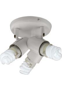 Luminária Spot Bronzearte New Short, Branco, 3 Lâmpadas