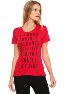 Camiseta Colcci L'Amour Rosa